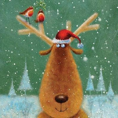 Charity Christmas cards - Festive Friends - 8 charity cards sold in support of Multiple Sclerosis Trust