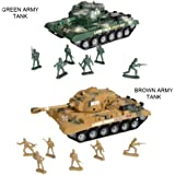 """""""Combat Mission"""" Boys Friction Powered Army Tank & Soldiers Military Playset"""