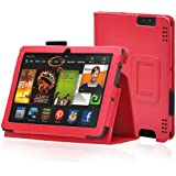 "Etui housse en cuir pour Amazon Kindle Fire HDX 7"" (rouge)"