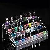 DANCINGNAIL 4 Layers Acrylic Nail Art Polish Rack Table Display Stand Makeup Organizer Removable