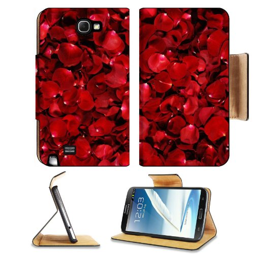 Red Rose Flower Petals Pile Fragrant Nature Fresh Fragile Samsung Galaxy Note 2 N7100 Flip Case Stand Magnetic Cover Open Ports Customized Made To Order Support Ready Premium Deluxe Pu Leather 6 1/16 Inch (154Mm) X 3 5/16 Inch (84Mm) X 9/16 Inch (14Mm) Li front-860090