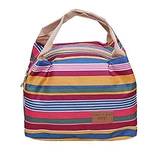 ourbag sac d jeuner repas pique nique transport de nourriture isotherme lunch bag bande stripe. Black Bedroom Furniture Sets. Home Design Ideas