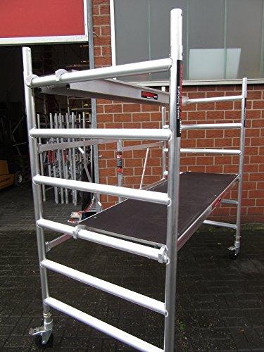 ALULINA-Alu-Zimmergerst-Klappgerst-Rollgerst-Fahrgerst-Gerst-Ah300m-jederzeit-erweiterbar-095iger-mit-2-Plattformen-breit-schmal-Das-professionelle-Gerst
