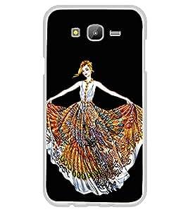 Girl with Colourful Dress 2D Hard Polycarbonate Designer Back Case Cover for Samsung Galaxy J5 (2015 Old Model) :: Samsung Galaxy J5 Duos :: Samsung Galaxy J5 J500F :: Samsung Galaxy J5 J500FN J500G J500Y J500M
