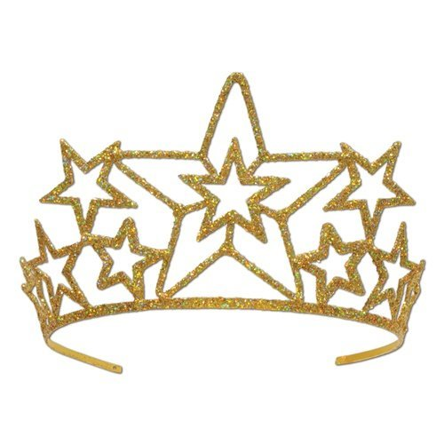 Beistle 60639 Glittered Metal Star Tiara