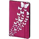 Hama CD-Tasche Up to Fashion für 48 CDs/DVDs/Blu-rays, Nylon, mit Schmetterlingsmotiv, rosa