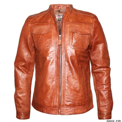 Mens Timber Waxed Soft Real Leather Jacket E1B Size XL - Extra Large
