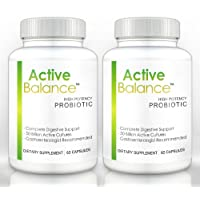 Active Balance (2 bottles) - Clinical Strength Probiotic supplement containing 50 billion CFU's (60 Capsules per Bottle)