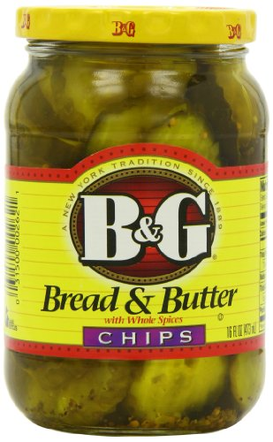 B and G Bread and Butter with Whole Spices Chips 473 ml (Pack of 2)