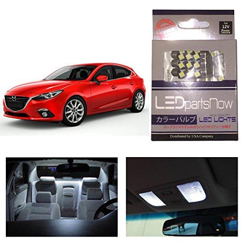 Ledpartsnow Mazda 3 2014 Xenon White Premium Led Interior Lights Package Kit (6 Pieces)
