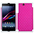 MyBat FullStar Protector Cover for Sony Ericsson Xperia Z Ultra - Retail Packaging - Hot Pink/Solid White