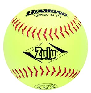 Buy Diamond Sports 12RYSC 44 375 ASA Super Synthetic Optic Softball, Dozen by Diamond Sports