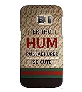 EPICCASE quotes on punjabi Mobile Back Case Cover For Samsung Galaxy S7 (Designer Case)