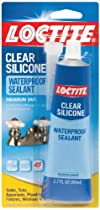 Loctite Clear Silicone Waterproof Sealant 2.7-Ounce Tube (908570)