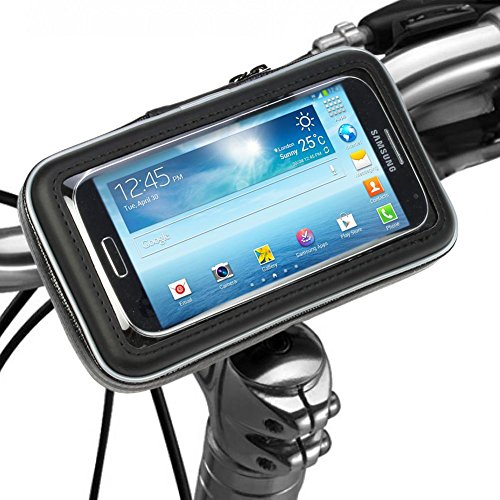 Bike Mount Holder - iKross Universal Smartphone iPhone Bicycle WaterProof Pouch Holster Case - Black (Amazon Honor System compare prices)