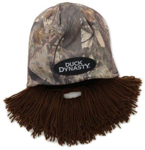Beard Head Duck Dynasty Camouflage Short Beard Beanie, Brown, One Size