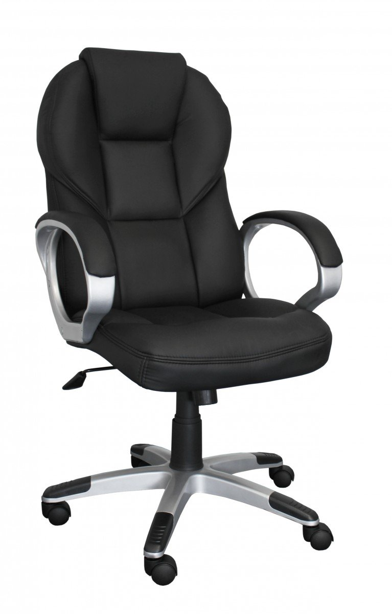 Amstyle Matera Director&'s Office Chair Leather Effect Black       reviews and more information