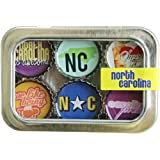 North Carolina Bottle Cap 6 pc Magnet Set w/ Case