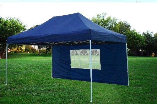10x15 Pop Up 4 Wall Canopy Party Tent Gazebo Ez Navy Blue