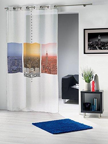 moderna-ed-elegante-delicata-fallender-tenda-con-occhielli-occhielli-new-york-city-lights-in-bianco-