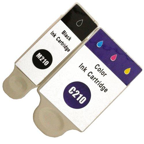2 kompatible Druckerpatronen mit Füllstandsanzeige color für Samsung CJX-1000 CJX-1050W CJX-2000FW Patronen kompatibel zu INK-M210 INK-C210 INK-M215