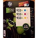 HP D8J65BN 933XL Combo 3-Color high capacity XL Cartridges