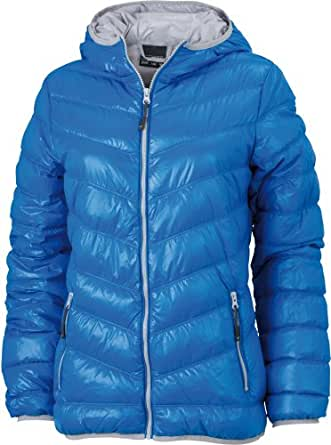 J&N - sportliche Damen Daunen-Jacke (JN1059) S,Blau/Silber