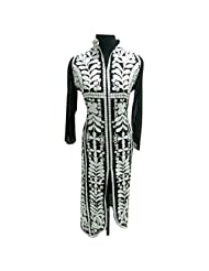 Black And White Georgette Designer Party Wear Kurti Semi Stitched