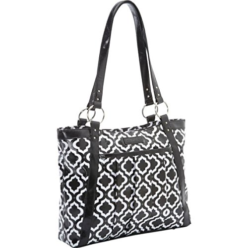 kailo-chic-casual-154-laptop-tote-black-and-white-moroccan