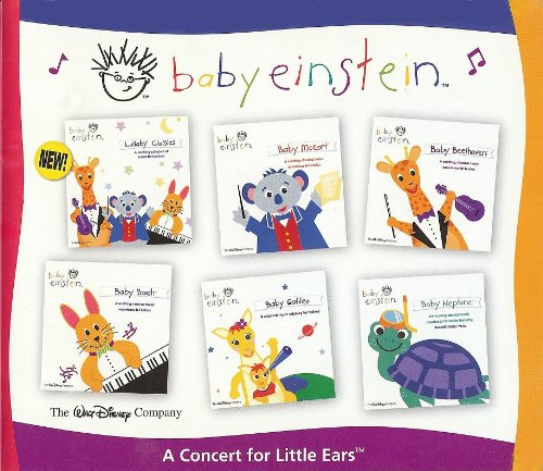 Baby Einstein Music Cd Box Set - A Concert For Little Ears (Baby Mozart, Baby Beethoven, Baby Bach, Baby Galileo & Baby Neptune) **Bonus - Lullaby Classics Bonus Cd** front-204809