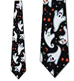 Flying Ghosts Halloween tie by Ralph Marlin