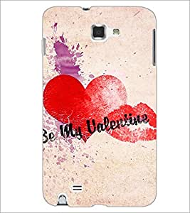 PrintDhaba My Valentine D-4405 Back Case Cover for SAMSUNG GALAXY NOTE 1 (Multi-Coloured)
