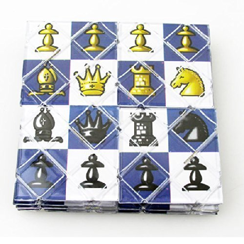 LingAo 16 Panels Chess Super Master Magic Folding Puzzle Cube Twisty