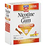 Rite Aid Pharmacy Stop Smoking Aid, 4 mg, Coated Gum, Cinnamon, 100 pieces