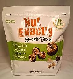 Nut Exactly Pistachio Popcorn Dipped in Dark Chocolate Snack Bites