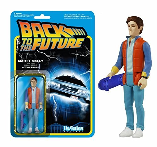 Back to the Future Marty McFly ReAction 3 3/4-Inch Retro Action Figure by ADVENTURER'S BAG