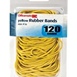 Officemate OIC Size 16 Rubber Bands, Yellow Assorted, 120 per Pack (82021)
