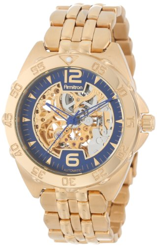 Armitron Men's 20/4768BLGP Automatic Gold-Tone Stainless Steel Bracelet Watch