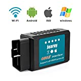 Joaruy OBD2 Scanner, Car Code Reader WiFi Diagnostic Scanner Tool,Diagnostic for Cars Compatible with IOS, Android and Windows Devices Support OBDII Protocol (Tamaño: Medium)
