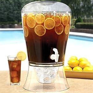 On Ice Plastic Drinks Dispenser 10 Pint | bar@drinkstuff Beverage Dispenser, Juice Dispenser, Drinks Tower, Punch Dispenser, Lemonade Dispenser, Fruit Infuser
