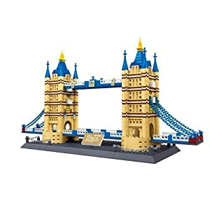 United Kingdom: Tower Bridge of London England BUILDING BLOCKS 1033 pcs set BEST GIFT! in HUGE BOX ! World's great architecture series - COLLECT THEM all ! Compatible with Lego parts by Wange