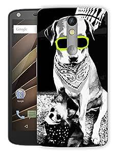 "Humor Gang Dog Neon Love Printed Designer Mobile Back Cover For ""Motorola Moto X Force"" (3D, Matte, Premium Quality Snap On Case)"