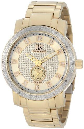 Joshua & Sons Caballero JS-20-YG Stainless Steel Diamond Bracelet Reloj