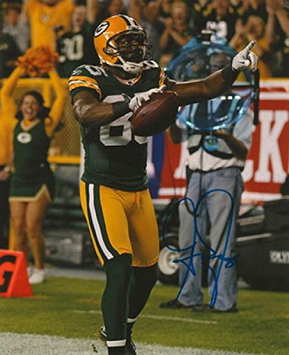 Greg Jennings Autographed Photo - 8X10 Vs Bears Coa - Autographed Nfl Photos
