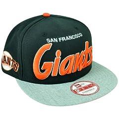 MLB New Era 9Fifty San Francisco Giants Team Script Heather Strap Back Hat Cap by New Era