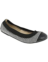 Capelli New York Women'si Houndstooth Casual Flat