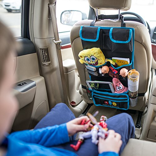 backseat car organizer by hello little monsters kids toy car storage travel accessories for