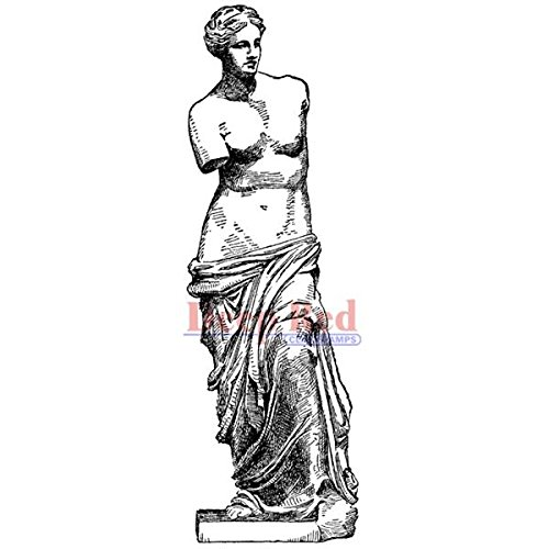 Deep Red Stamps Venus De Milo Rubber Stamp - 1