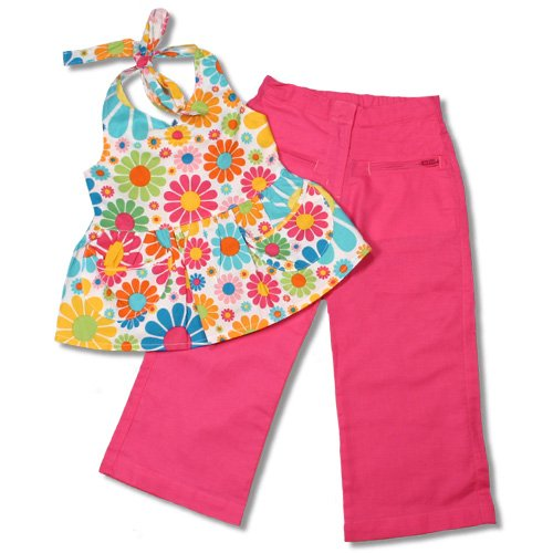 Toddler Flower Power Halter Top Outfit