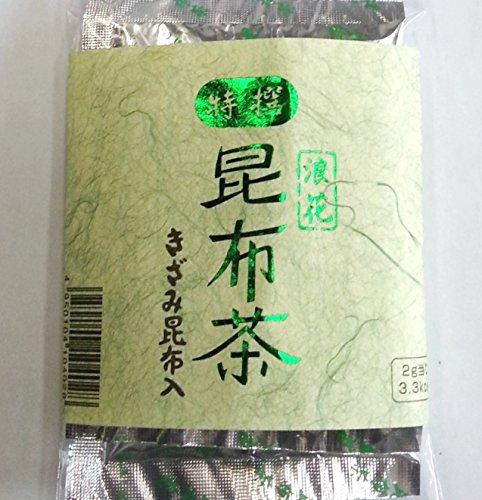【缶なしエコパック】 きざみ昆布入り 特選 浪花 昆布茶 (90g袋入り)。北海道産良質昆布の豊かな風味を贅沢に生かした昆布茶です 【Overseas Delivery】 ( 45g x 2 袋)